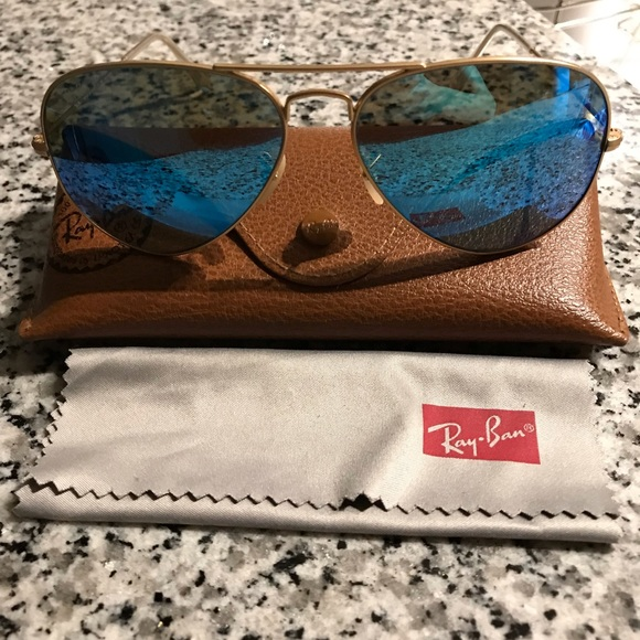 Ray-Ban Accessories - Blue Polarized Ray Bans Aviators